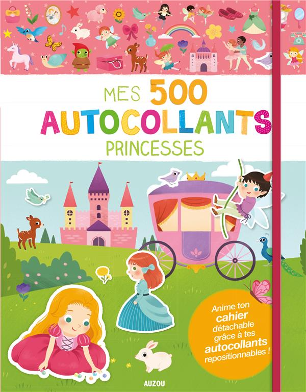 MES 500 AUTOCOLLANTS - PRINCESSES - 500 AUTOCOLLANTS REPOSITIONNABLES